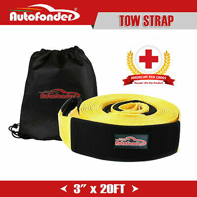 20ft 3'' 30000lbs Snatch Strap Recovery Tow Straps Winch Extension 4WD