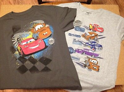 LOT of 2 DISNEY STORE CARS TSHIRTS Both Size 10/12 NWT
