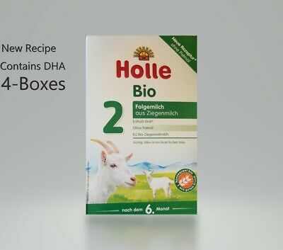 4-Boxes Holle Organic Goat Milk Formula Stage-2 400g FREE SHIPPING