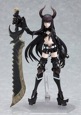 Anime FIGMA 168 Max Factory Black Rock Shooter Black Gold Saw Authentic!