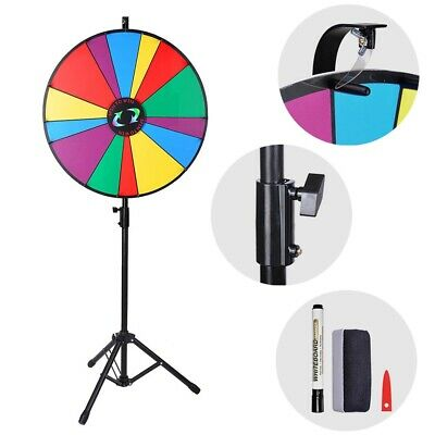 """24"""" 14 Slots Color Prize Wheel Dry Erase Trade Show Fortune Spinning Game Party"""