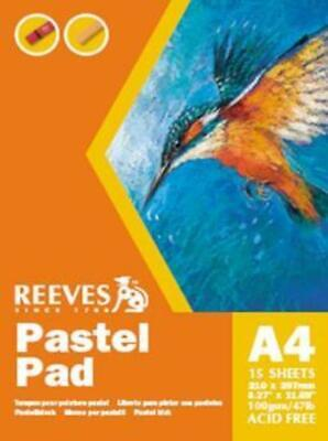 Reeves A4 Pastel Sketch Art Paper Pad 100gsm - 15 Sheets