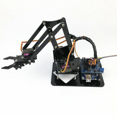 Acrylic DIY Robot 4-Dof 4 Servos Mechanical Arm for Arduino 51 Science Toy