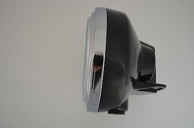 "8"" Black Motorcycle Motorbike Headlight Fits Cafe Racer Cruiser Custom Bobber"