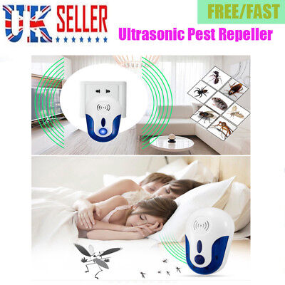 Ultrasonic Pest Repeller Plug In Pest Rodent Mouse/Mice/Rat/Spider/Insect UK K9