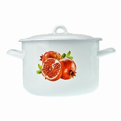 Topf Emaille mit Deckel 4,5 l Email Traditionell Kochtopf 22  cm 4,5L