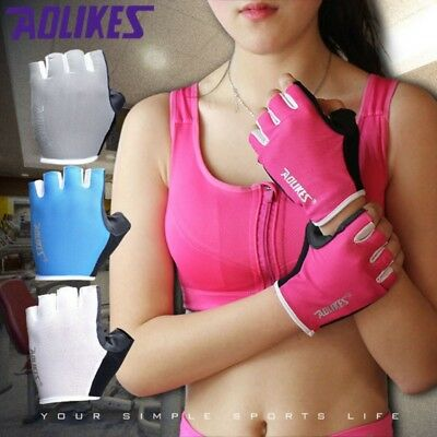 AU Weight Lifting Bodybuilding GYM Fitness Leather Gloves Slim Fitting Women Men