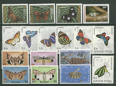 Schmetterlinge, Butterflies, Insekten - LOT ** MNH