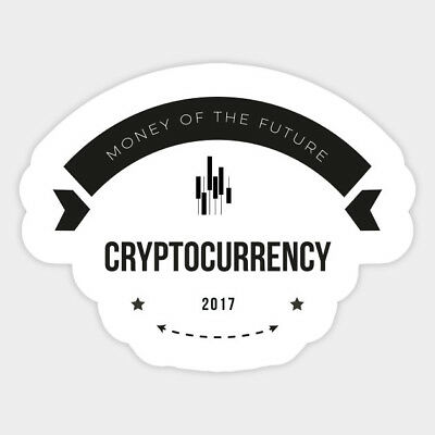 Crypto Bitcoin Trader Currency Vinyl Graphic Decal Sticker for Laptops Wall Cars