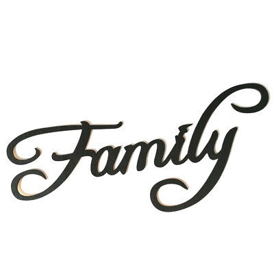 Family Love Gather Letters Wood Sign Wall Sticker DIY Home Decor Ornament