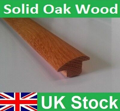 Solid Oak Floor Door Reducer Threshold Wood/Tiles to Carpets -Length 900mm(0.9M)