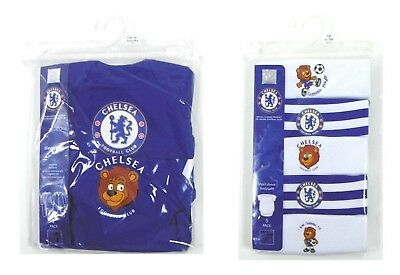 Chelsea Football Club FC 2 5 Pack Sleepsuits Bodysuits Baby Official