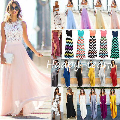 Women Boho Maxi Long Dress Evening Cocktail Party Summer Beach Dresses Wedding