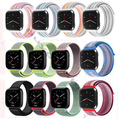 Soft Nylon Sport Loop Band Strap Wristbands for Fitbit Versa Fitness Smart Watch