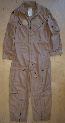 ade1dbb070a USAF Military NOMEX CWU-27 P Desert Tan Flight Suit Size 42S With Captain