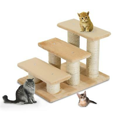 Portable Cream Cat Steps For Access To Bed, Sofa, Windows Lightweight Durable