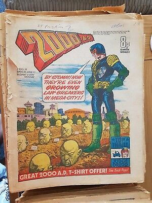 2000 AD job lot, with Starlord and Tornado. Very early Editions 1977-79