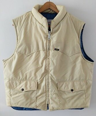 Vintage LEE StormRider Full Zip Puffer Vest Size Large Made In USA