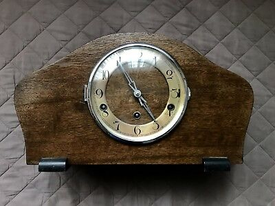 1900's Antique Wooden Westminster Chime Mantle Clock