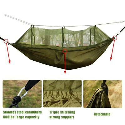 260*140cm 1-2 Person Camping Hammock+Mosquito Net Portable For Traveling Leisure