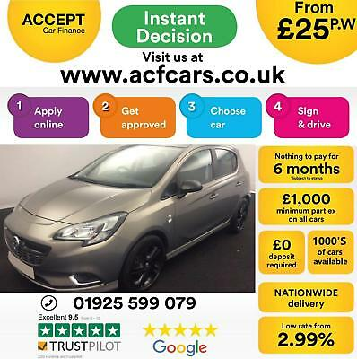 2015 Brown Vauxhall Corsa 1.4 90 Limited Edition 5Dr Hatch Car Finance Fr £25 Pw