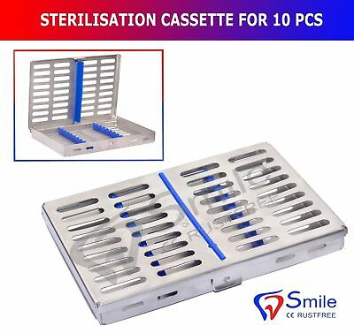 Stérilisation Cassette Support Plateau Holds 10 Instruments Chirurgie Dentaire