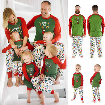 Christmas Family Pyjamas Set Kids Adult Sleepwear Xmas Homewear Leisure Clothes