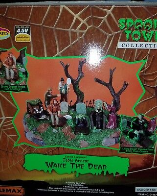 Spookytown Lemax Wake The Dead Table Piece