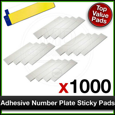 Car Number Plate STICKY PADS Heavy Duty ADHESIVE x 1000 Pack