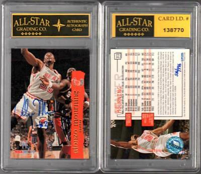 ALONZO MOURNING 1995-96 Skybox BUYBACK Scoreboard AUTOGRAPH ASG ENCASED #R