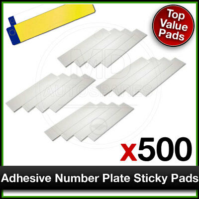 Car Number Plate STICKY PADS Heavy Duty ADHESIVE x 500 Pack
