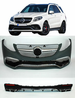 Mercedes W166 GLE class 63 AMG body kit bumper conversion Front Rear+EXHAUST