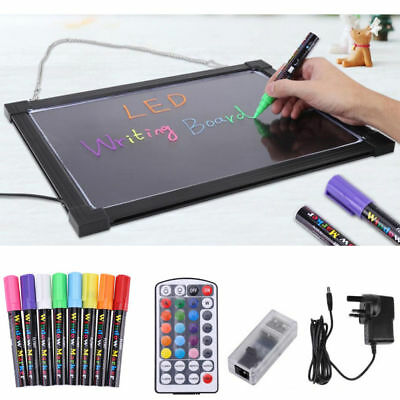 Kids LED Light Up Drawing Writing Memo Board Autism Sensory Play Remote Control