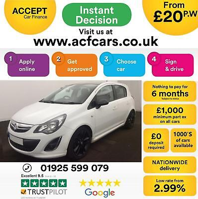 2013 White Vauxhall Corsa 1.2 Limited Edition Petrol 5Dr Car Finance Fr £20 Pw