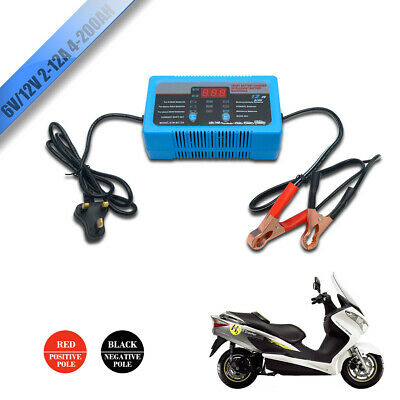 Simply 6V/12V 2/8/12A Smart Battery Trickle Automatic Charger Caravan Motorcycle