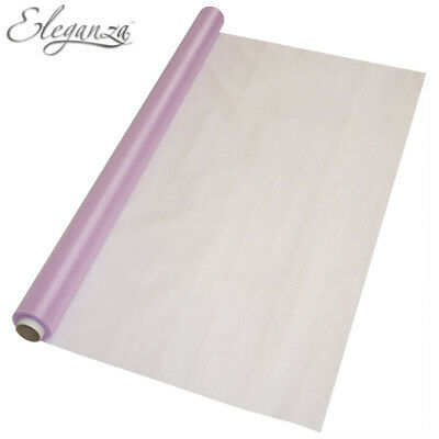 Sheer Organza With Non Fray Finish 70 cm x 10m Various Colours Available
