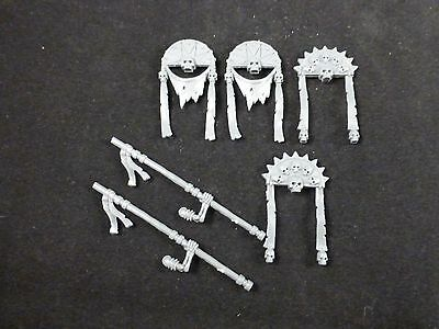 Tomb Kings : Egyptian Style Skeleton Command Standard Banners / Icons + Arms (6)