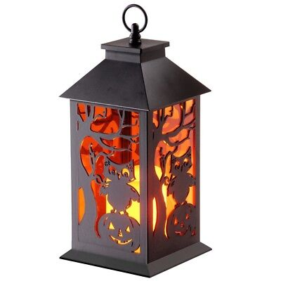 11.5 in. LED Owl and Pumpkin Lantern Halloween Special Event Home Office Decor