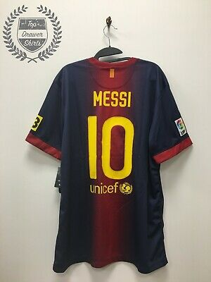 FC Barcelona 2012/2013 Lionel Messi home football shirt BNWT Extra Large XL