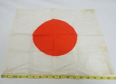 WW2 WWII Japanese Silk Meatball Flag,Original,Imperial,IJA,Rising Sun,Ar