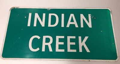 Retired Texas Road Sign Indian Creek 36 X 18 Authentic