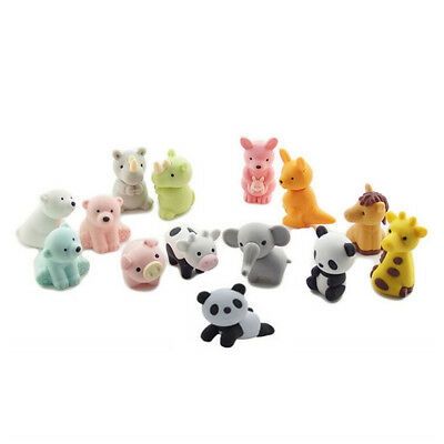 20pcs Adorable Pencil Eraser Rubber Set Cute Zoo Animal Eraser Collection  AU