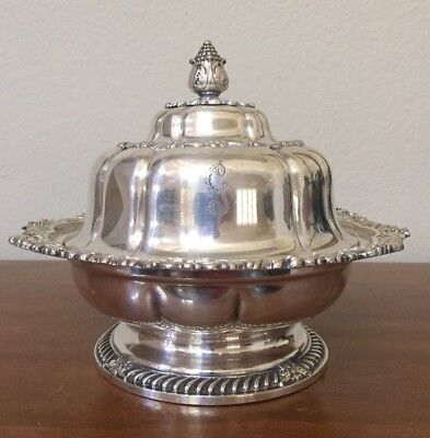 Tiffany & Co Makers Silver Soldered Butter Dish American Repousse Late 1800's