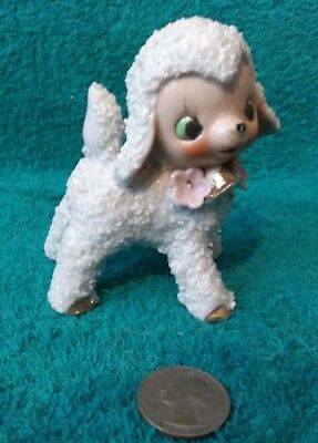 Vintage White Lamb Figurine from the 1950s-60s. Nice Collectible.