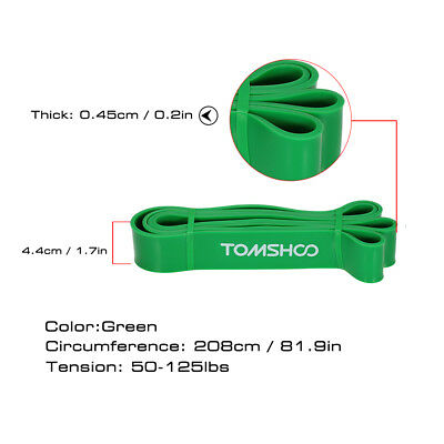 TOMSHOO 208cm Workout Schleifenband Assist Pull Up Band Stretch Resistance F9Q4