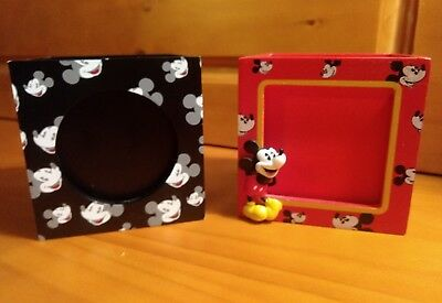 """Disney Mickey Mouse 3"""" Square Picture Frame Storage Container"""