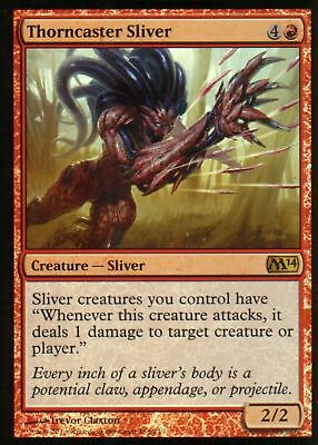 1x FOIL THORNCASTER SLIVER - Rare - M14 - MTG - NM - Magic the Gathering