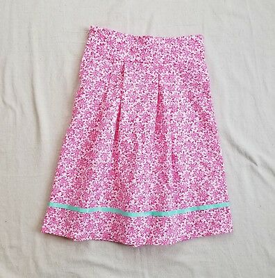 Girl's Size 8 Brand New Just Skirts Pink Floral Pleated Skirt
