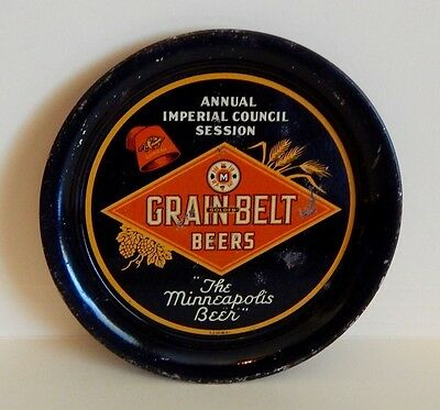 Rare GRAIN BELT  Beers Shriners Tip Tray,Awesome condition NO RESERVE
