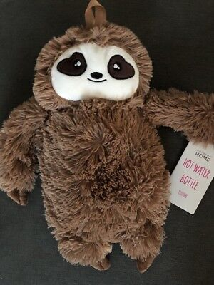 Cuddly Sloth Hot Water Bottle Primark Boys Girls Christmas Gift 1 Litre Large